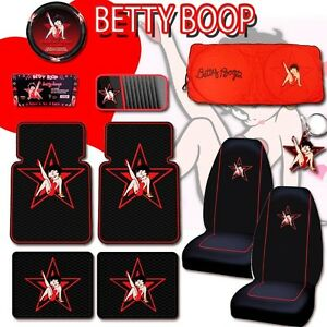 betty boop car mats steering wheel seat covers sunshade ebay. Black Bedroom Furniture Sets. Home Design Ideas