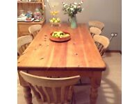 Kerry's pine table and chairs