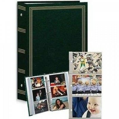 "3-ring pocket HUNTER-GREEN album for 504 photos - 4""x6"""
