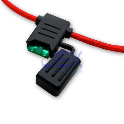 Waterproof 40a Fuse Holder - In-Line Car ATC/ATO Blade Fuse Holder Waterproof 10AWG Upto 40A 12V/24V/32V DC