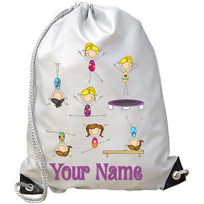 2daec95dff86 GIRL S GYMNASTICS PERSONALISED GYM   PE   DANCE   SWIMMING BAG   NAMED GIFT