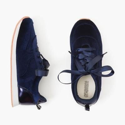 NWT Gymboree Navy Blue Velvet Sneakers Shoes Girls many sizes