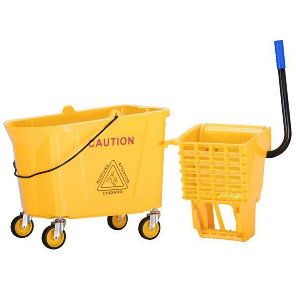 9.5 Gallon Commercial Mopping System Bucket & Side-Press Wringer Combo 36L