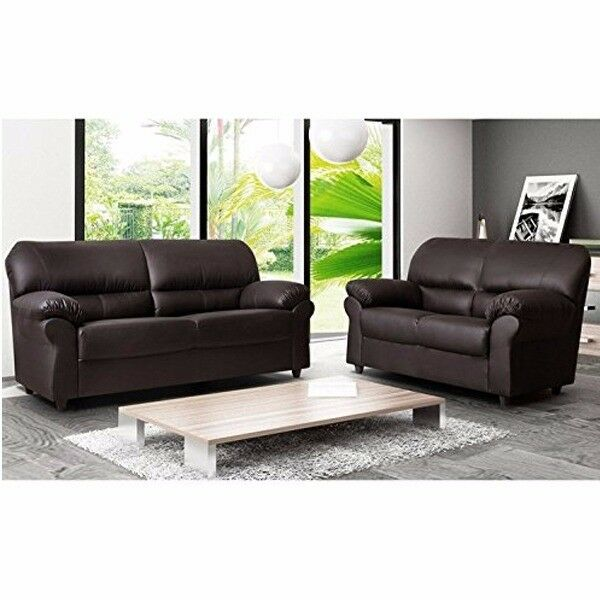 BRAND NEW CANDY 3+2 FAUX LEATHER SOFA SUITE