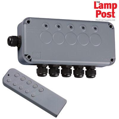 Knightsbridge IPAV665G Outdoor Remote Control IP66 Electrical Switch Box 5 Way