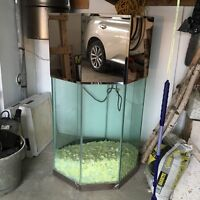 Glass fish  tank with base