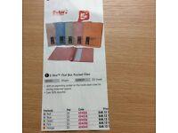 New - POCKET FLAT FILES - A4/ Foolscap, Blue. Boxed 25
