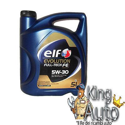 5 LITRI OLIO MOTORE ELF EVOLUTION FULL TECH FE 5W30  RENAULT EX SOLARIS