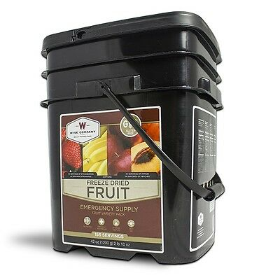 Wise Food 156 Serving GLUTEN FREE FRUIT Bucket, Bug Out, Camping, Survival
