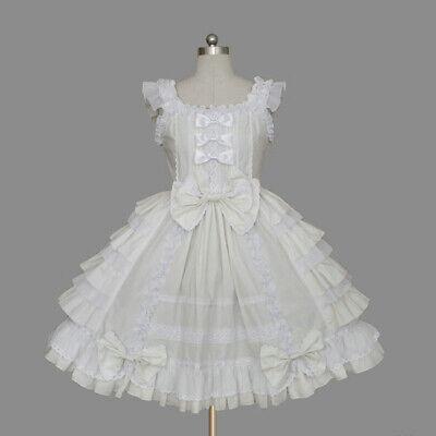 Damenmode Kleider Süß Träger Lolita Schichtiges Kleid Ärmellos Taillenkleid TOP  ()