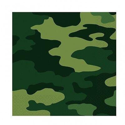 16 Servietten Camouflage Party Deko Kinderparty Mottoparty Dekoration ()