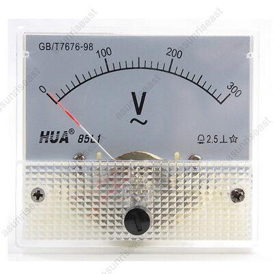 1 Ac300v Analog Panel Volt Voltage Meter Voltmeter Gauge 85l1 Ac0-300v