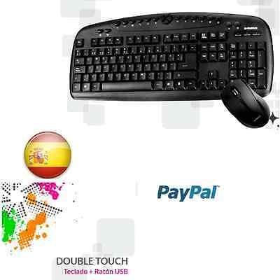 Teclado y raton multimedia, ideal hogar ,office, juegos, windows 10, 8,7 segunda mano  Embacar hacia Argentina