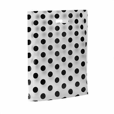 Black Polka Dot Plastic Carrier Bags Medium 15