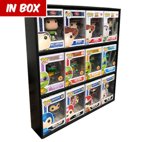 Display Geek - IN BOX Display Cases for Funko Pops, Black Corrugated Cardboard