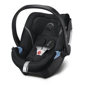 Cybex Aton Infant Car Seat, Group 0 Plus, Black and Cybex Base-Fix