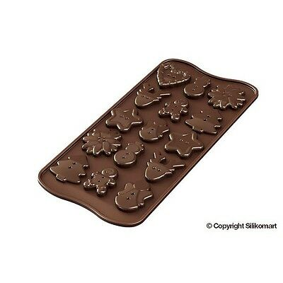 Stampo silicone xmas Silikomart buttons bottoni natale cioccolatini SCG41 Rotex