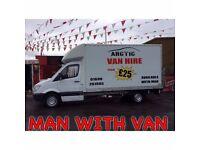 Man with Van or Van Hire FROM £25p/h in N.Lanarkshire!! **ARCTIC COMMERCIALS**
