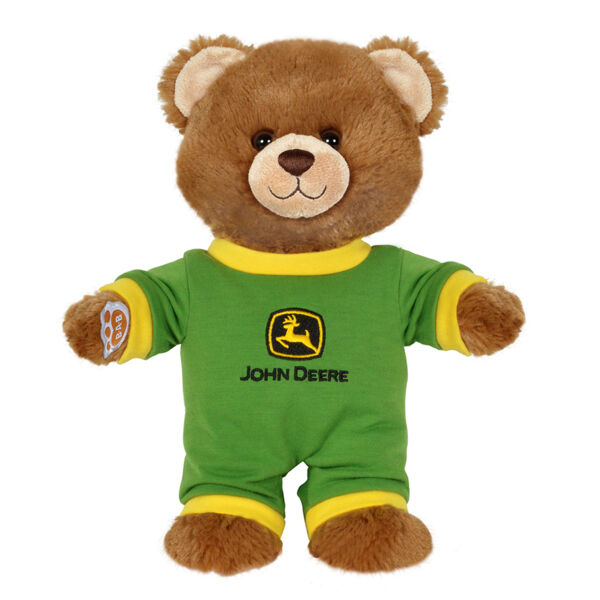 JOHN DEERE BUILD-A-BEAR *BROWN TEDDY BEAR CUB* w/Green Outfit *BRAND NEW*
