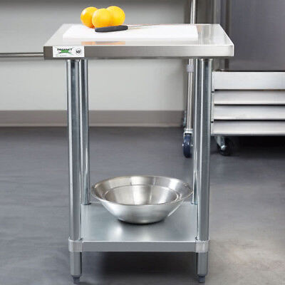 24 X 24 Stainless Steel Commercial Kitchen Restaurant Work Prep Shelf Table