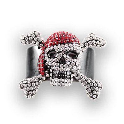 HAIR GLOVE HAIR RINGZ SKULL PIRATE PONYTAIL HOLDER  Biker Holder Jewelry (Pirate Hair Accessories)
