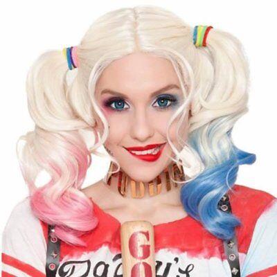 Halloween Karneval Cosplay Kostüm Harley Quinn Perücke Joker Batman Haar Wig (Joker Cosplay Kostüm)