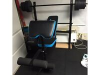 Weights bench with bar and dumbell's quick sale. Grab a bargain