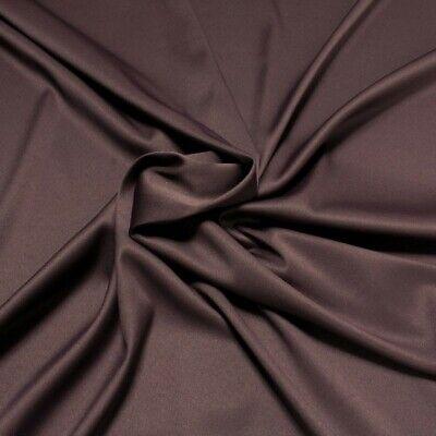 tan Satin aubergine elastisch dehnbar (Polyester Satin)