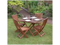 Victoria 5 Piece Hardwood Garden Patio Furniture Set