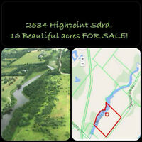 2534 Highpoint Sdrd Has 16 acres to build your dream home on!