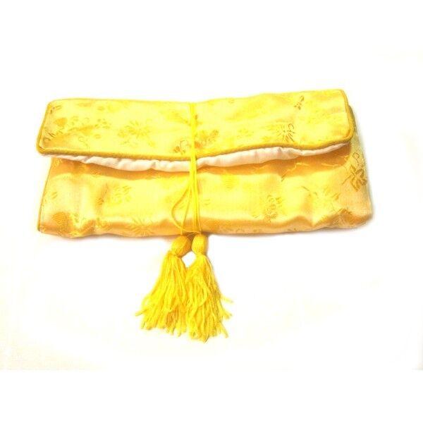 Chinese Silk Jewelry Pouches, Yellow