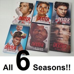 SIX SEASONS of DEXTER (DVDs) 1, 2, 3, 4, 5, + Final --- $80 !!