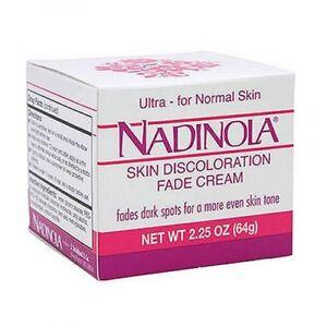 NADINOLA SKIN DISCOLORATION FADE CREAM FOR NORMAL SKIN  2.25 OZ FadesDarkSpot