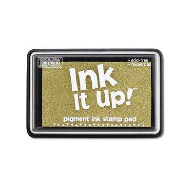 Ink Stamp Pad Ink It Up GOLD NON TOXIC  Premium Pigment Based Stamp Pad Darice