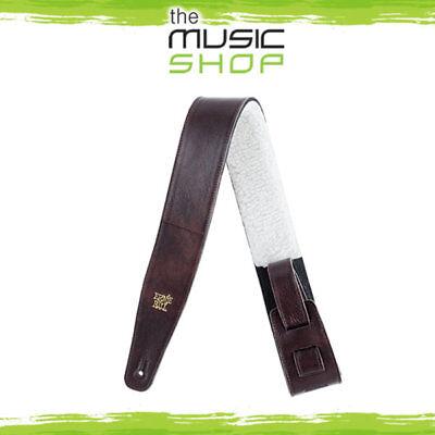 "Ernie Ball 2.5"" Adjustable Chestnut Italian Leather Guitar S"