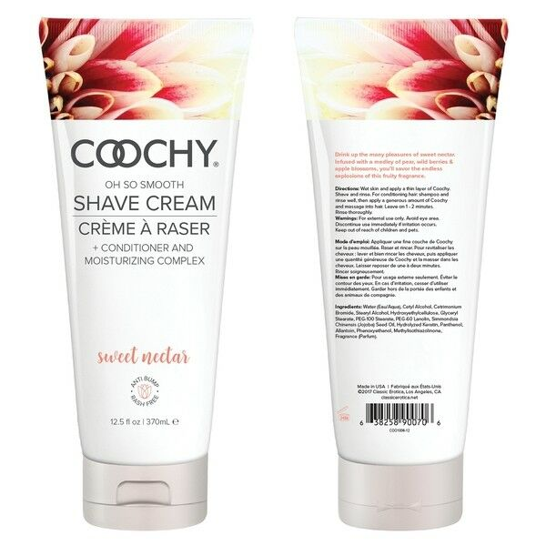 Coochy Shave Cream, 12.5 oz Sweet Nectar  Great deal!