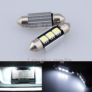 NEWEST 2PCS CANBUS LED License plate Light For Mercedes C230 Kompressor 2005
