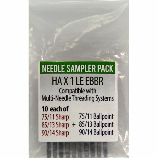 Triumph Commercial Embroidery Machine Needles EBBR Sampler Pack of 60 New