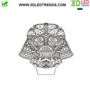 3D LED Night Light Illusion with ABS Base *7 changing colors* Kitchener / Waterloo Kitchener Area image 5