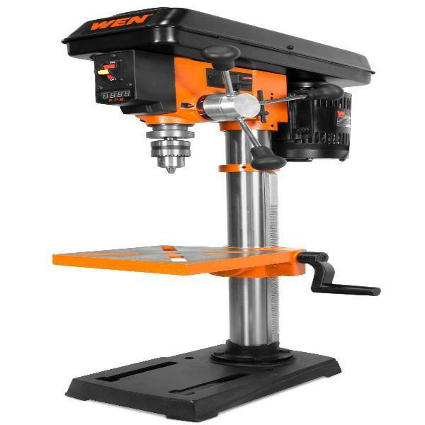Drill Press WEN 10 Inch Variable Speed Laser LED Readout Dis