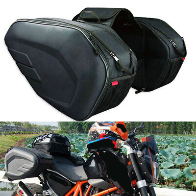 Motorcycle Pannier Bags Saddlebag Luggage Saddle Bags with Rain Cover For