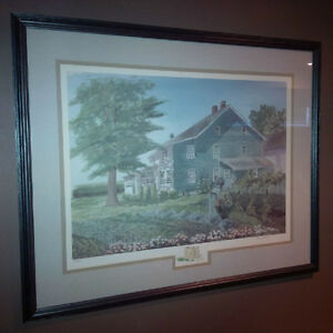 Large Framed Limited Edition Farmhouse Garden Signed Print