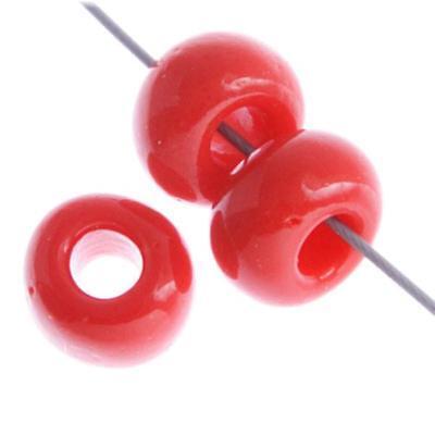 34/0 Opaco Rojo Medio Checo Abalorios Semilla 40 Gramos