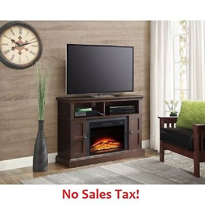 Fireplace Tv Stand Up To 55  Home Media Entertainment Center Console Furniture
