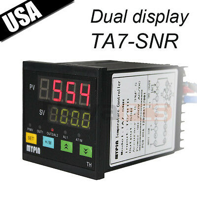 Dual Digital F/C PID Temperature Control Controller SSR Output J,S,K,E, TA7-SNR
