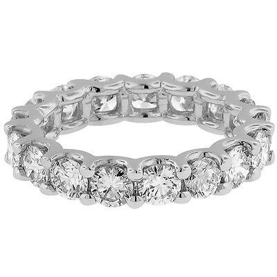 Cut Diamond Ring Band - 3.33CT Round cut 14K WHITE gold anniversary ETERNITY BAND  diamond ring F VS1