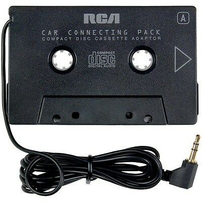 RCA Cassette Adapter for 3.5mm iphone/ipod/mp3 Audio to Car Stereo Deck, AH600N