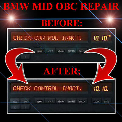 BMW 3-Series E36 RADIO STEREO DISPLAY MID OBC - LCD Screen Display Pixel REPAIR