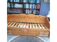FREE auntique pine day bed with storage drawers