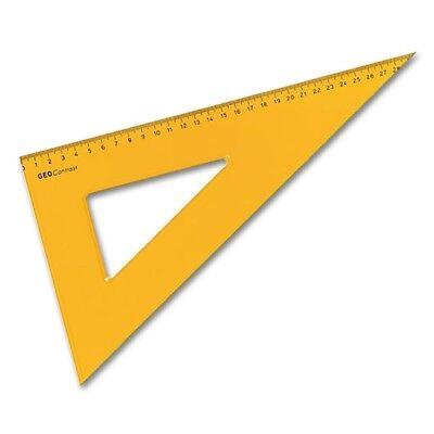 Zeichendreieck Aristo Contrast - 60° 35 cm 22632 - transparent orange